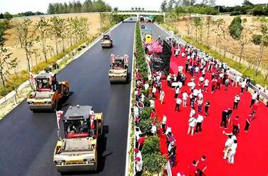 SANY completes the Li Gao Expressway in Nanjing section China